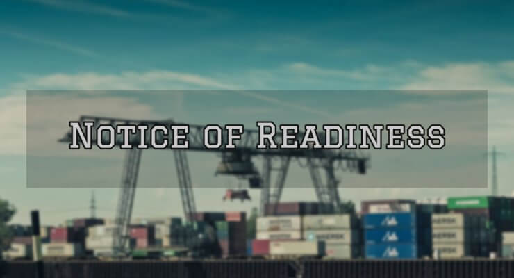 Notice of Readiness cover
