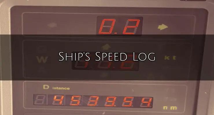 Ship's Speed Log
