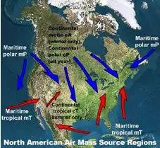 Air Mass over USA