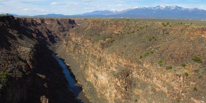 Stunning view over New Mexico's Rio Grande Gorge