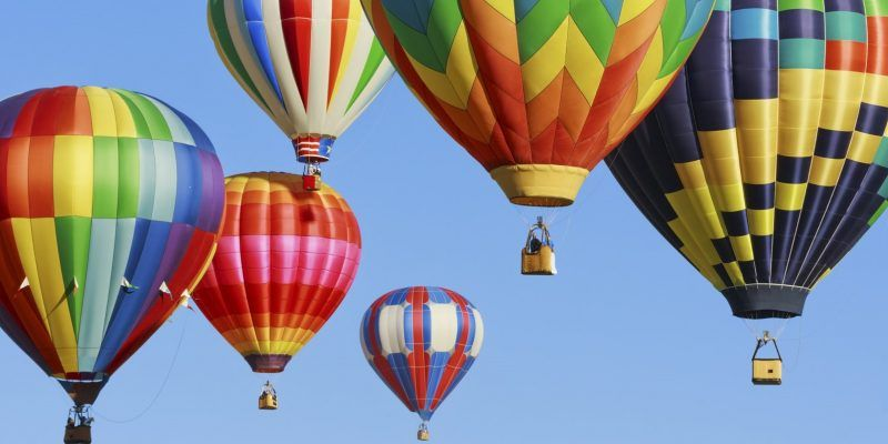Hot air baloons over New Mexico skies