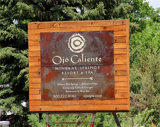 Ojo Caliente Welcome Sign