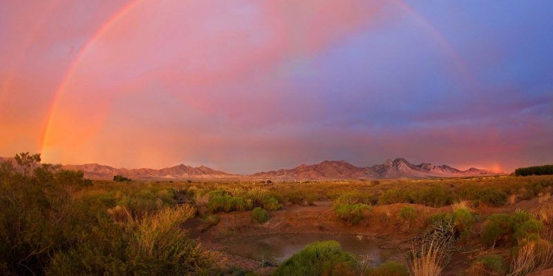 Beautiful rainbow over Las Cruces