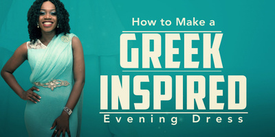 How To Make a Greek Inspired Evening Dress