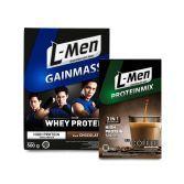 L-Men Gain Mass Chocolate 500gr + L-Men Proteinmix Coffee (6 Sch)