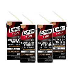 L-Men Hi Protein 2 Go Chocolate (4 Pcs) - Ready to Drink