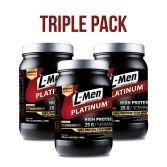 Triple Pack: L-Men Platinum Choco Latte 800gr (25 protein / serving)