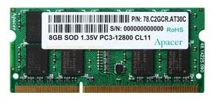 Apacer 8GB DDR3 SO-DIMM PC3-12800 [AS08GFA60CATBGJ]