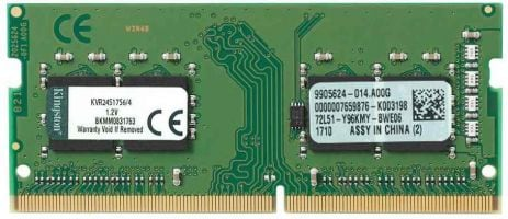 Kingston ValueRam 4GB DDR4 SODIMM PC4-19200 KVR24S17S6/4