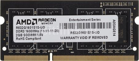 AMD Radeon Entertainment 2 GB DDR3 SO-DIMM (R532G1601S1S-UO)