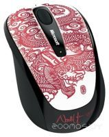 Microsoft Wireless Mobile Mouse 3500 Artist Edition Dragon Red USB