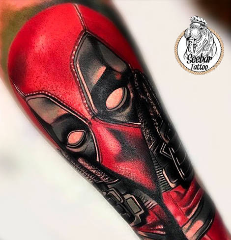 Deadpool Tattoo vom Tattoo Studio Kiel