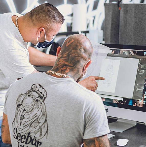 Design entwicklung für Tattoovorlagen