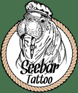 Das Seebär Tattoo Studio Logo mit einem Seelöwen aus Kiel.