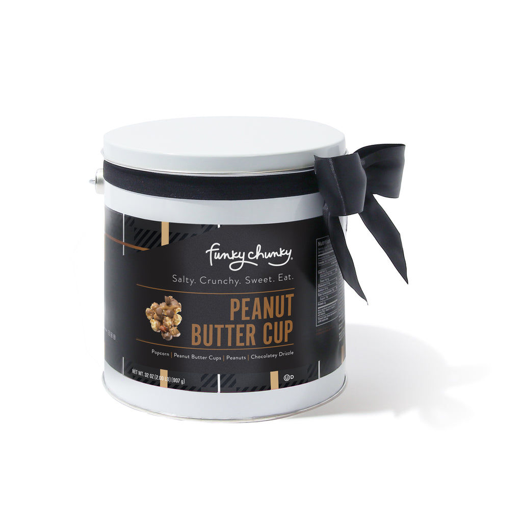 Gift Pails 2 lb-This gourmet popcorn gift tin is filled to the lid with two rich and delicious pounds of your favorite Funky Chunky® flavor. This popcorn tin is the perfect sharing or gifting size for family gatherings, small office parties and corporate customers.-Funky Chunky
