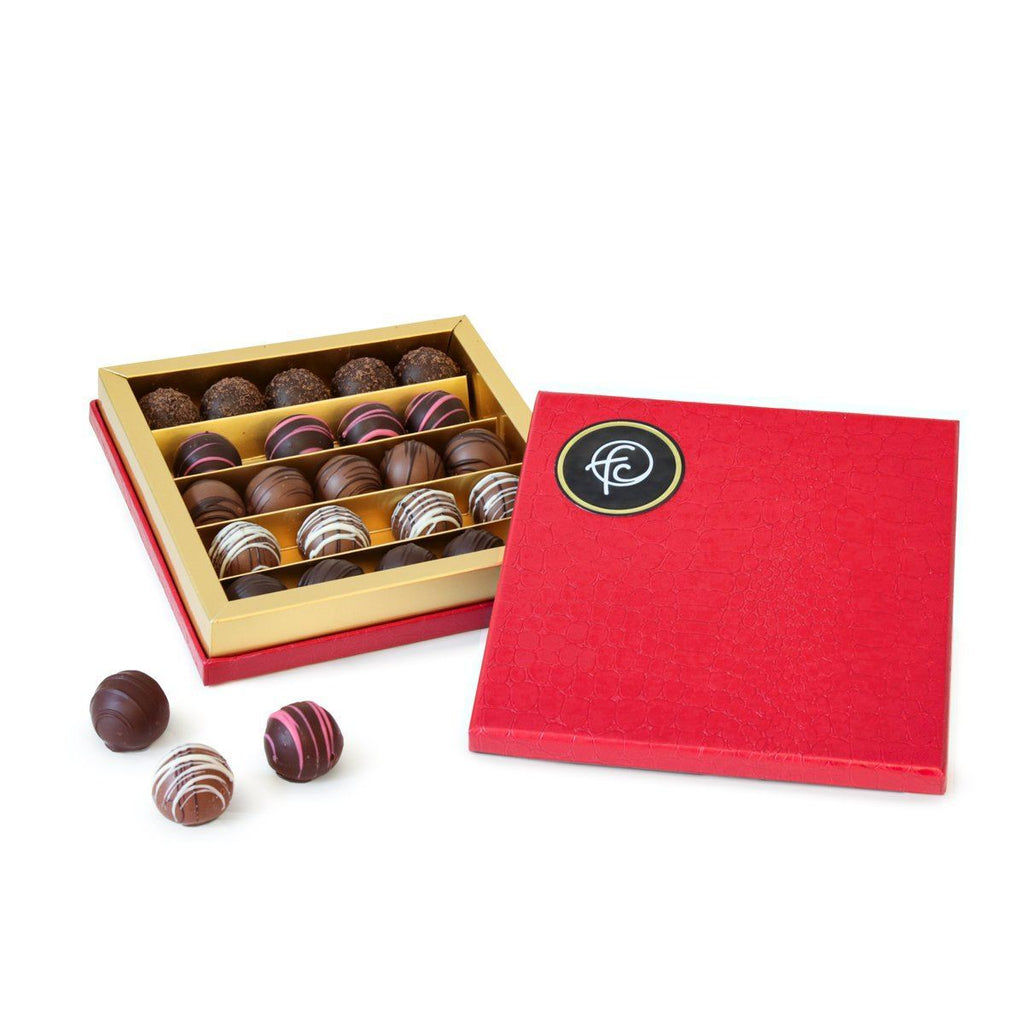 Bite Size Truffles in Parisian Red Box-simple-Funky Chunky