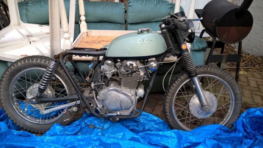 1972 Honda CL 350 bobber/cafe racer project