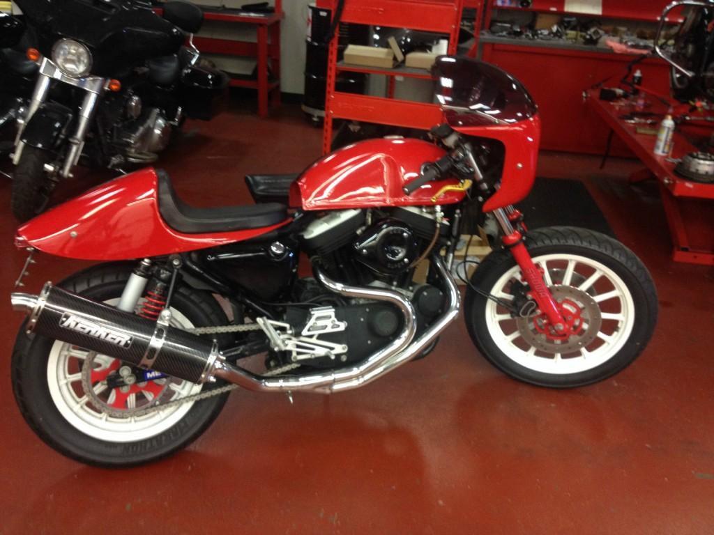 2003 Harley Davidson Sportster 100th Anniversary Custom Cafe Racer