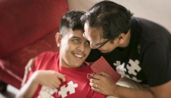 Behind the walls of autism, a father's love