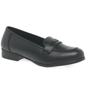 Hush Puppies Girls Madison Black Leather Shoes