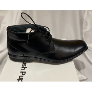 Hush Puppies Mens Travis Gravity IIV Black Leather Lace up Shoes
