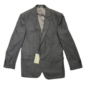 Lab4Style Grey Blue Checked Suit