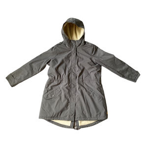 Timberland Grey & Wool Lined Coat Size XL