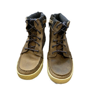 Timberland Men's Olive Green Nubuck Check Boots Size UK5.5