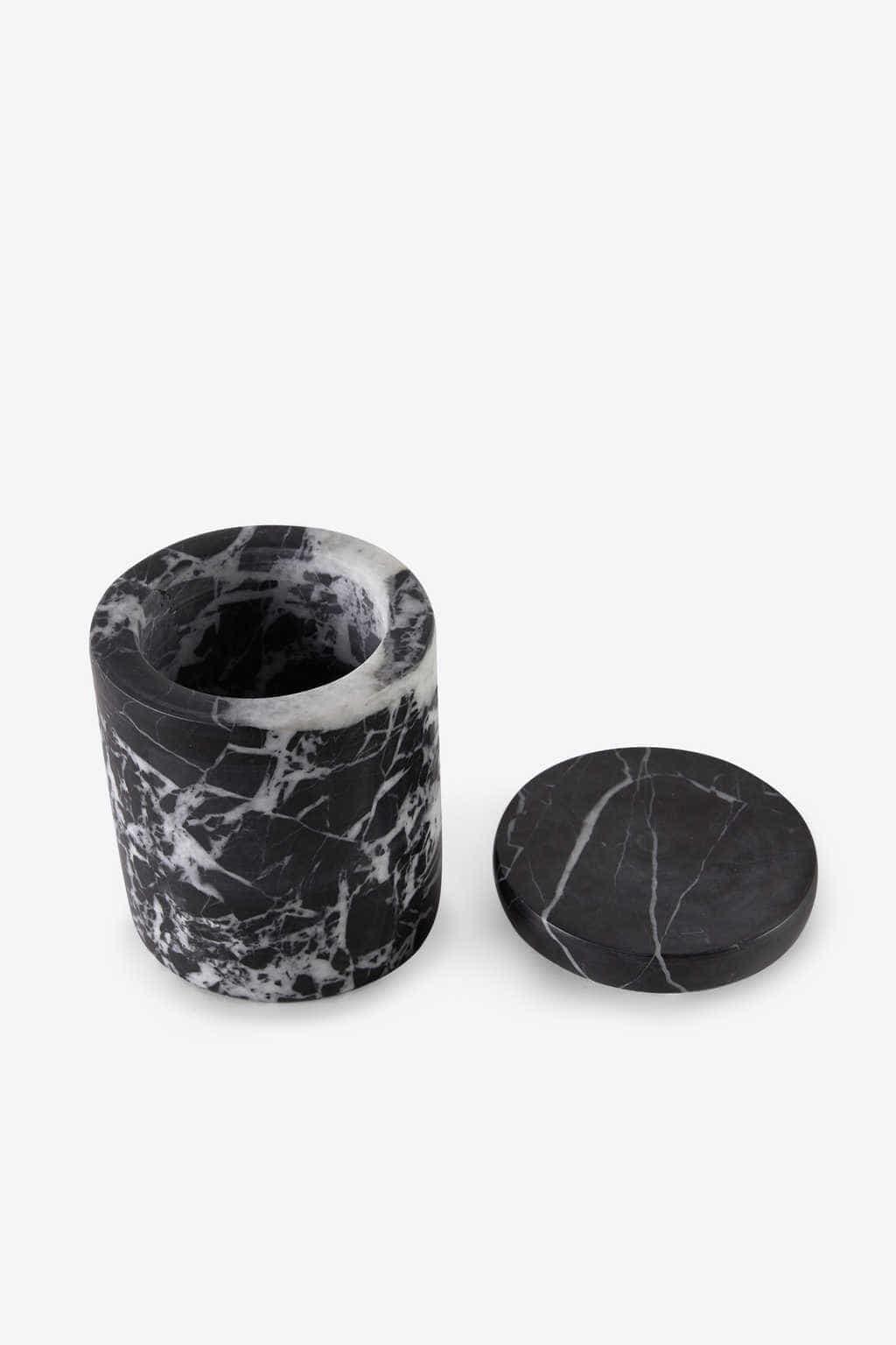 Black Marbled Canister 3127 Black 3