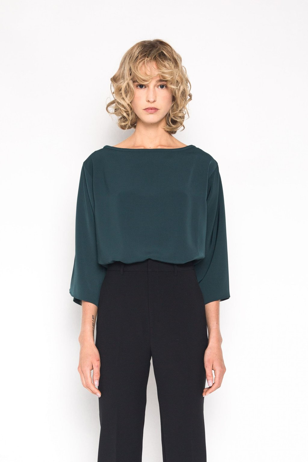 Blouse 1445 Forest Green 2