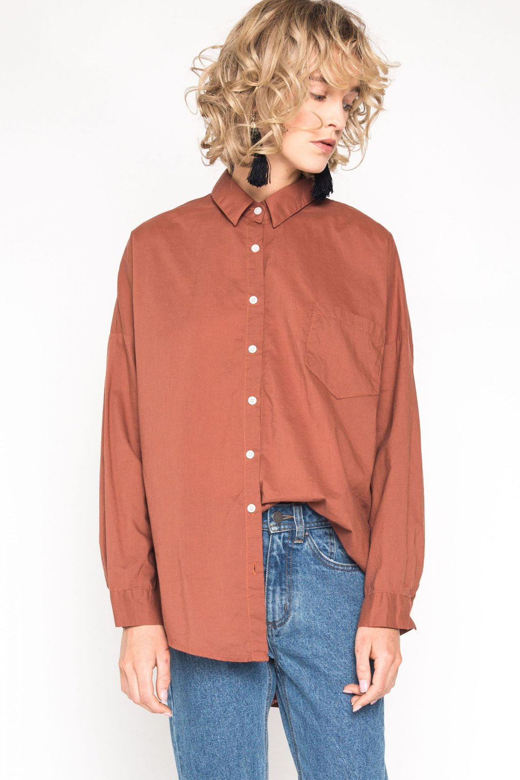 Blouse H218 Brown 2