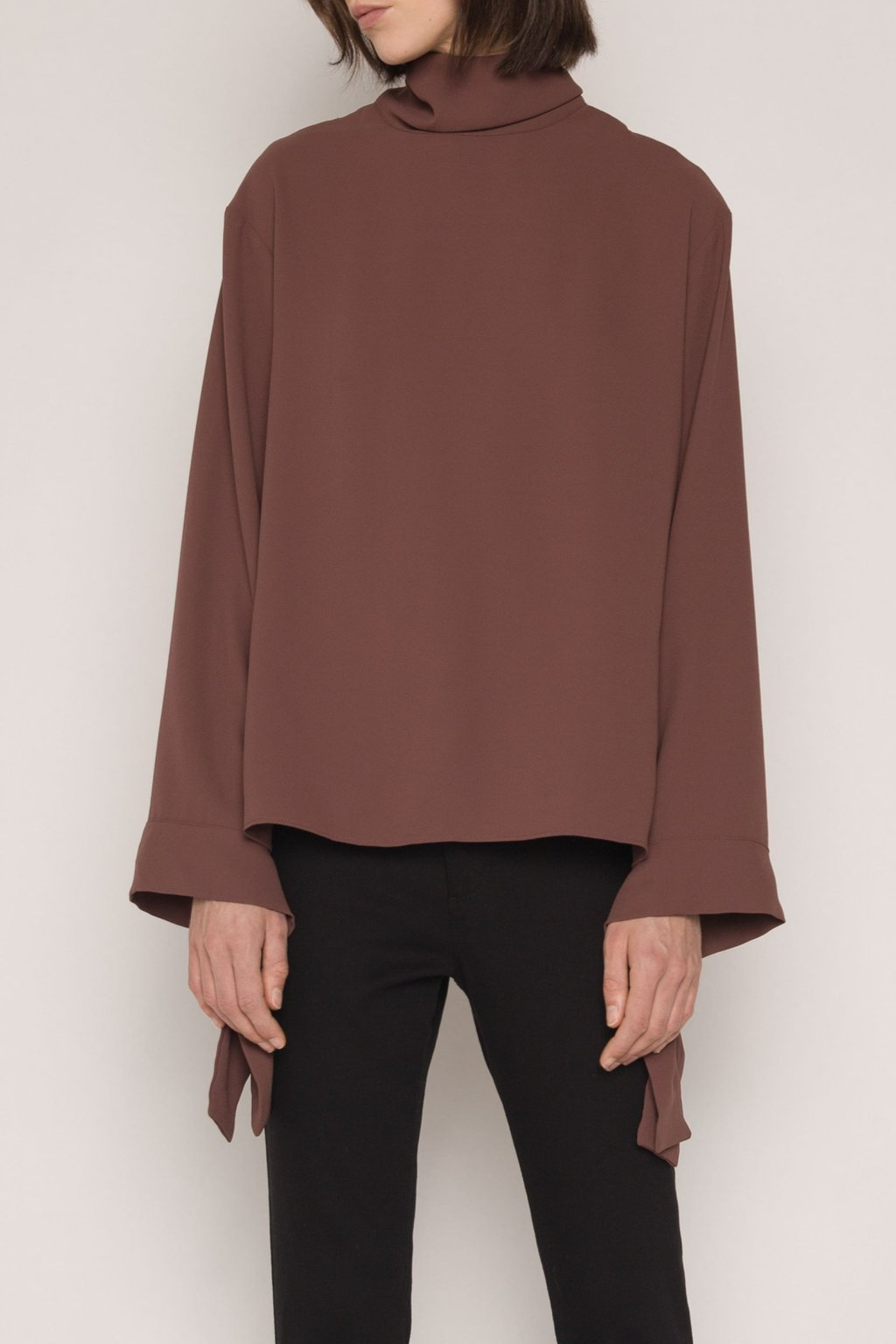Blouse H323 Brown 2
