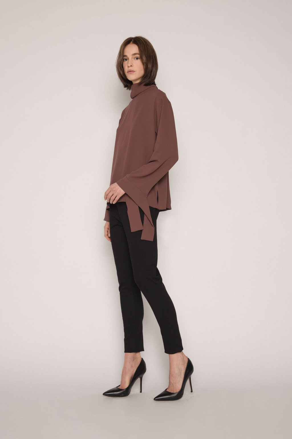 Blouse H323 Brown 5
