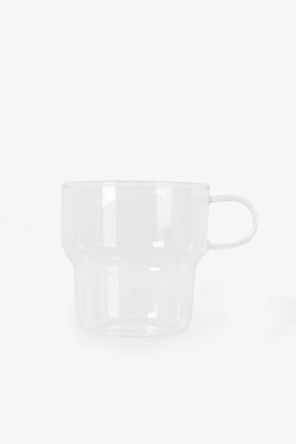 Clear Glass Mug 3135 White 4