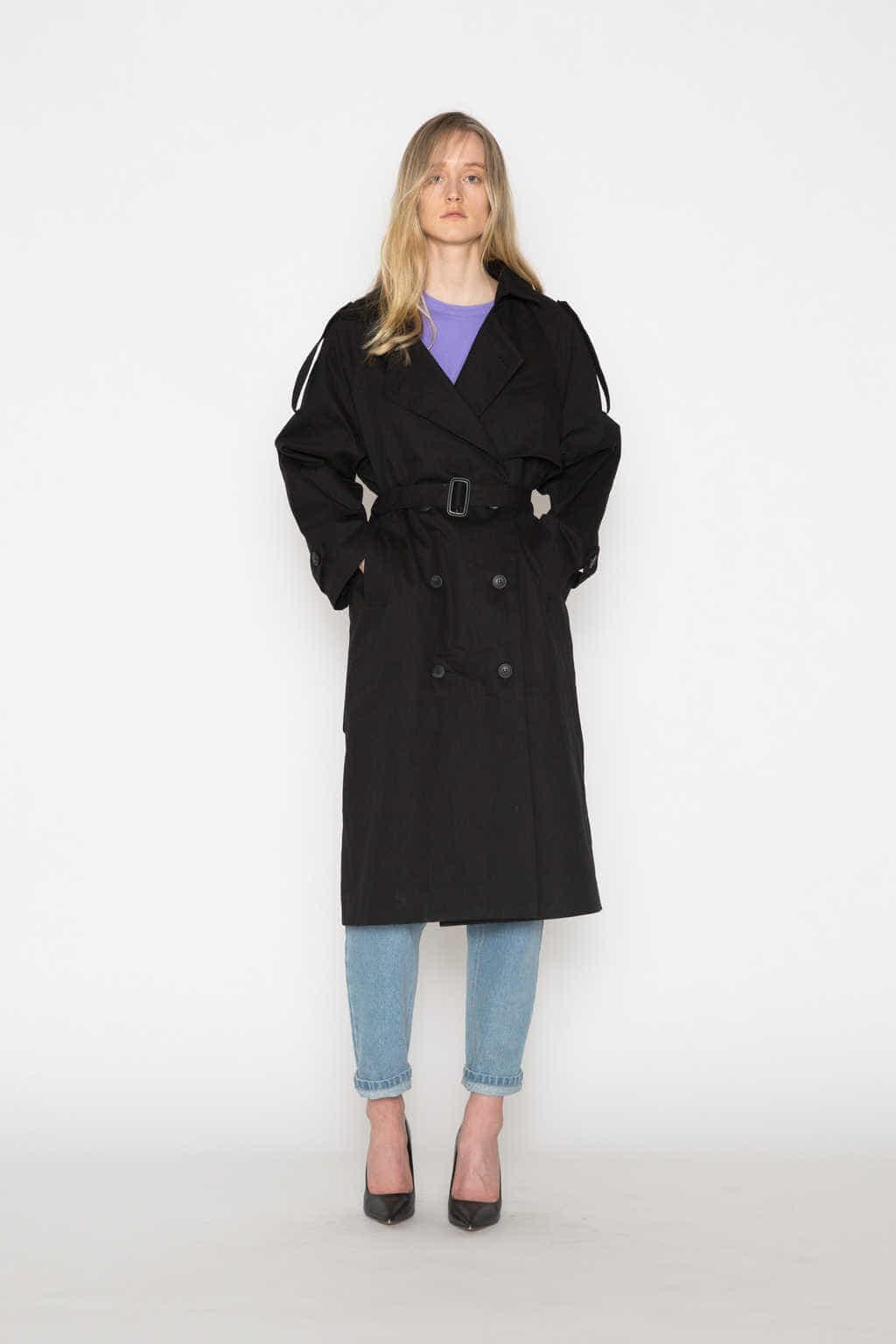 Coat H073 Black 3