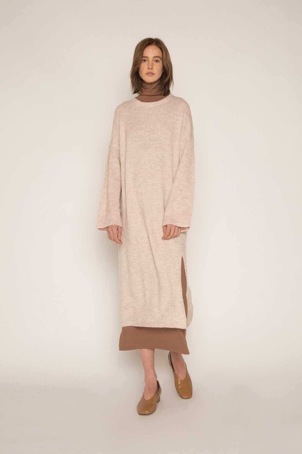 Dress 1648 Beige 2