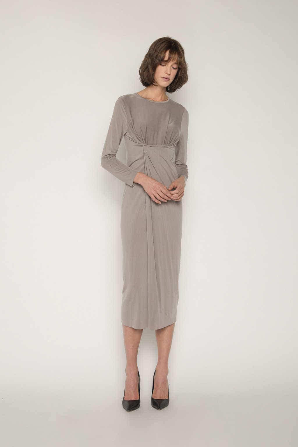 Dress 1673 Taupe 3
