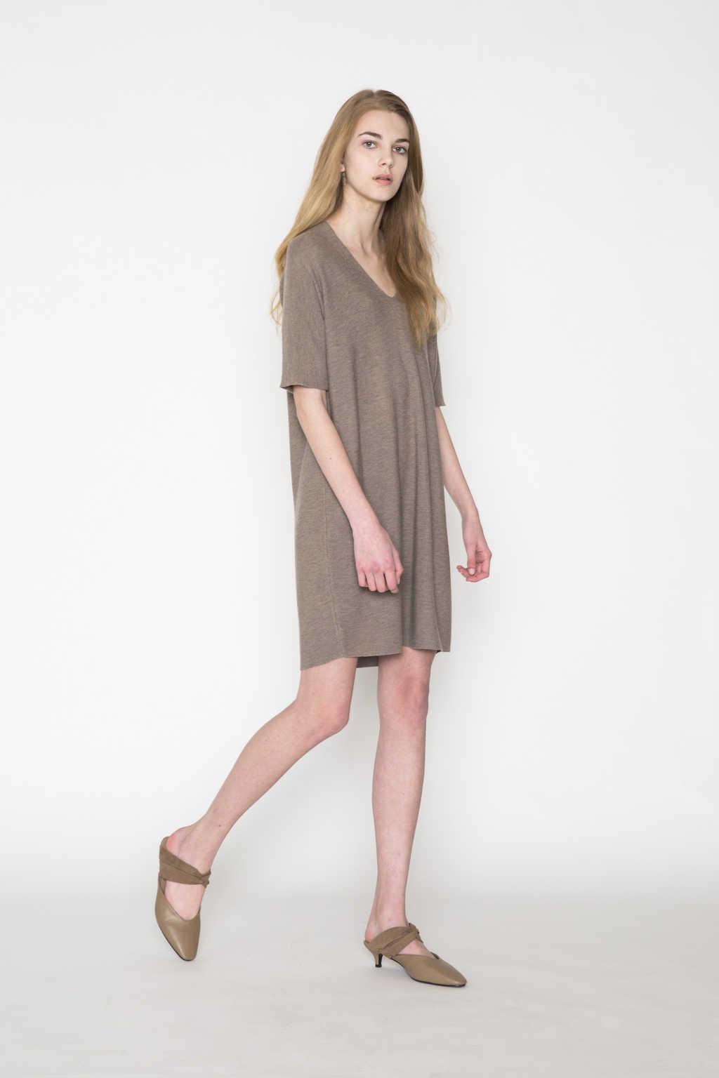 Dress 2457 Brown 1