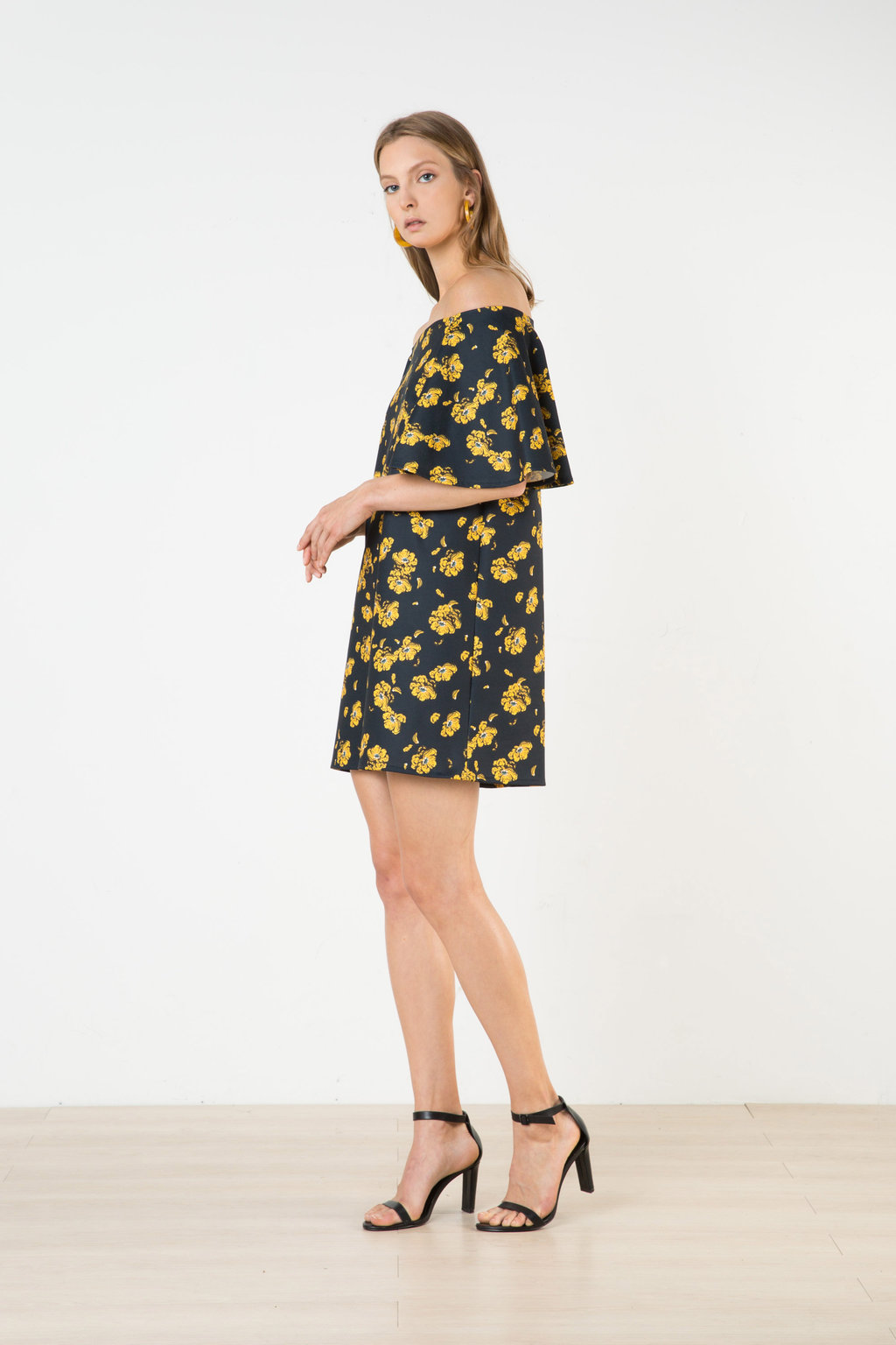 Dress 2581 Yellow Print 1