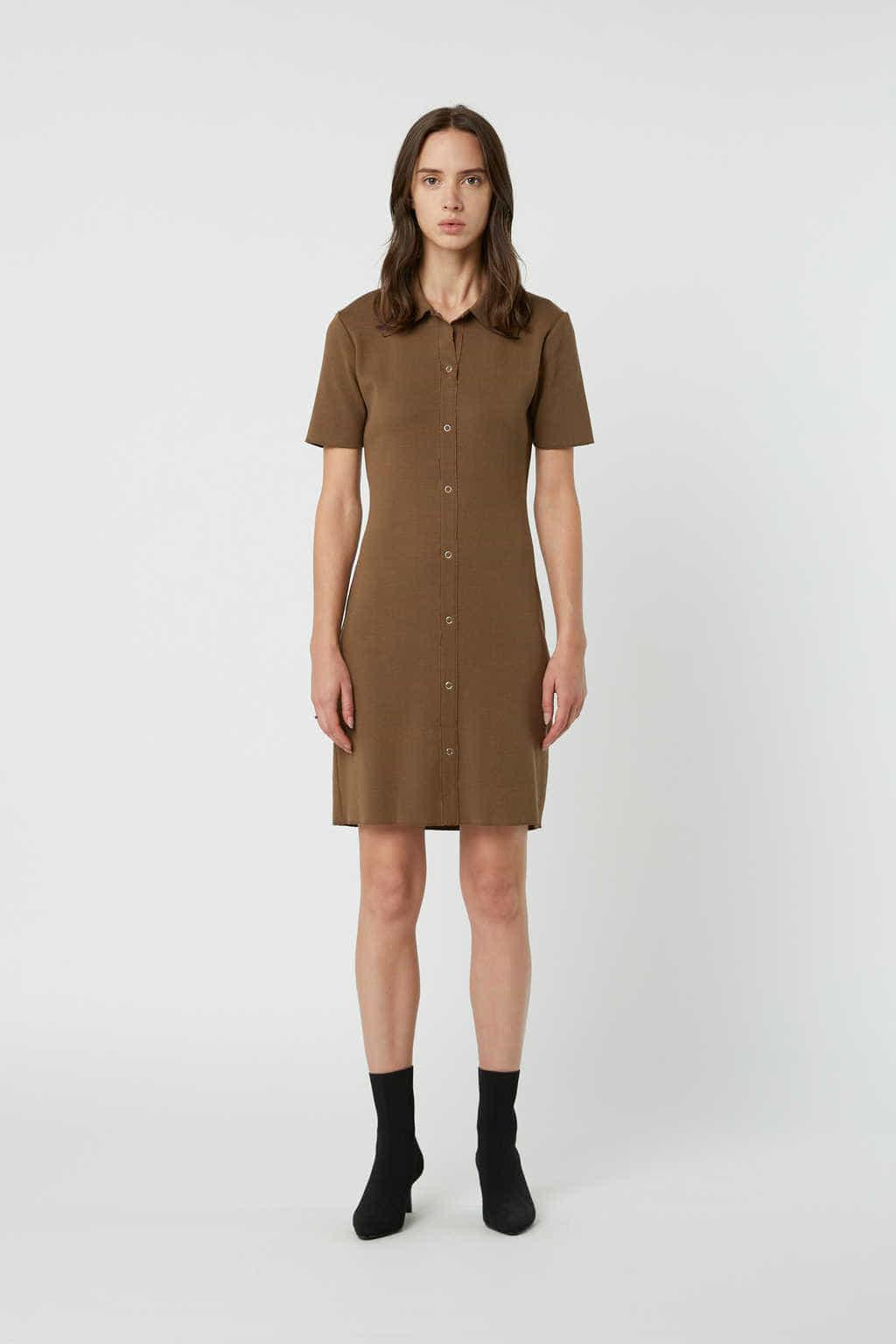Dress 2835 Brown 2