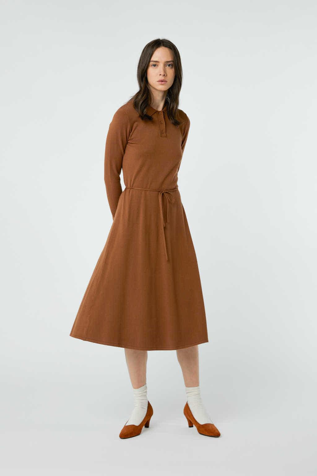 Dress 2868 Brown 11