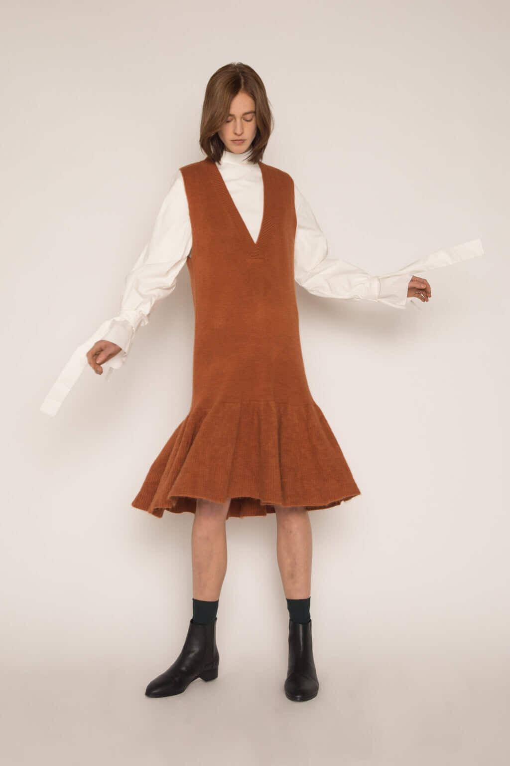Dress H292 Brown 2