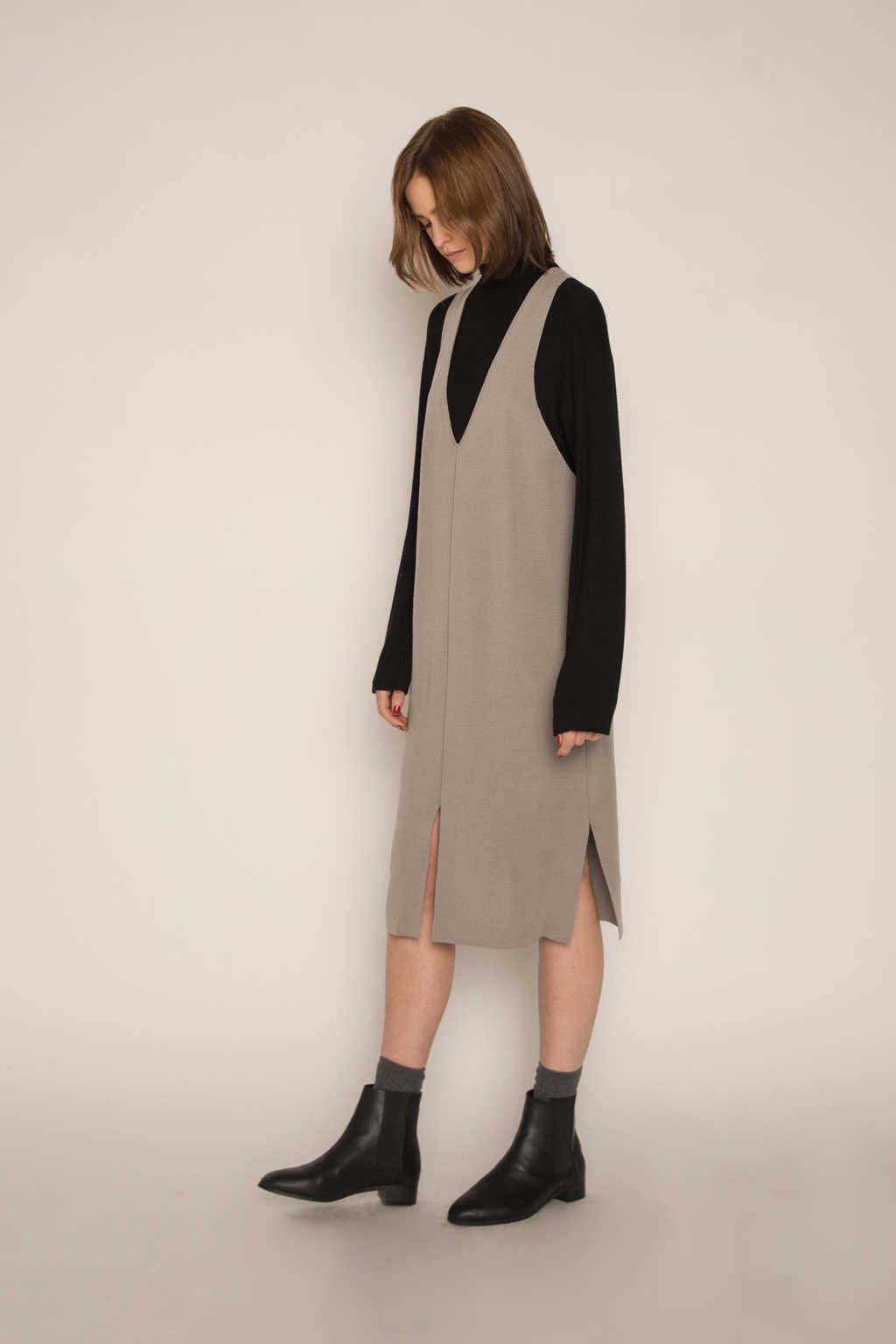Dress H316 Gray 3