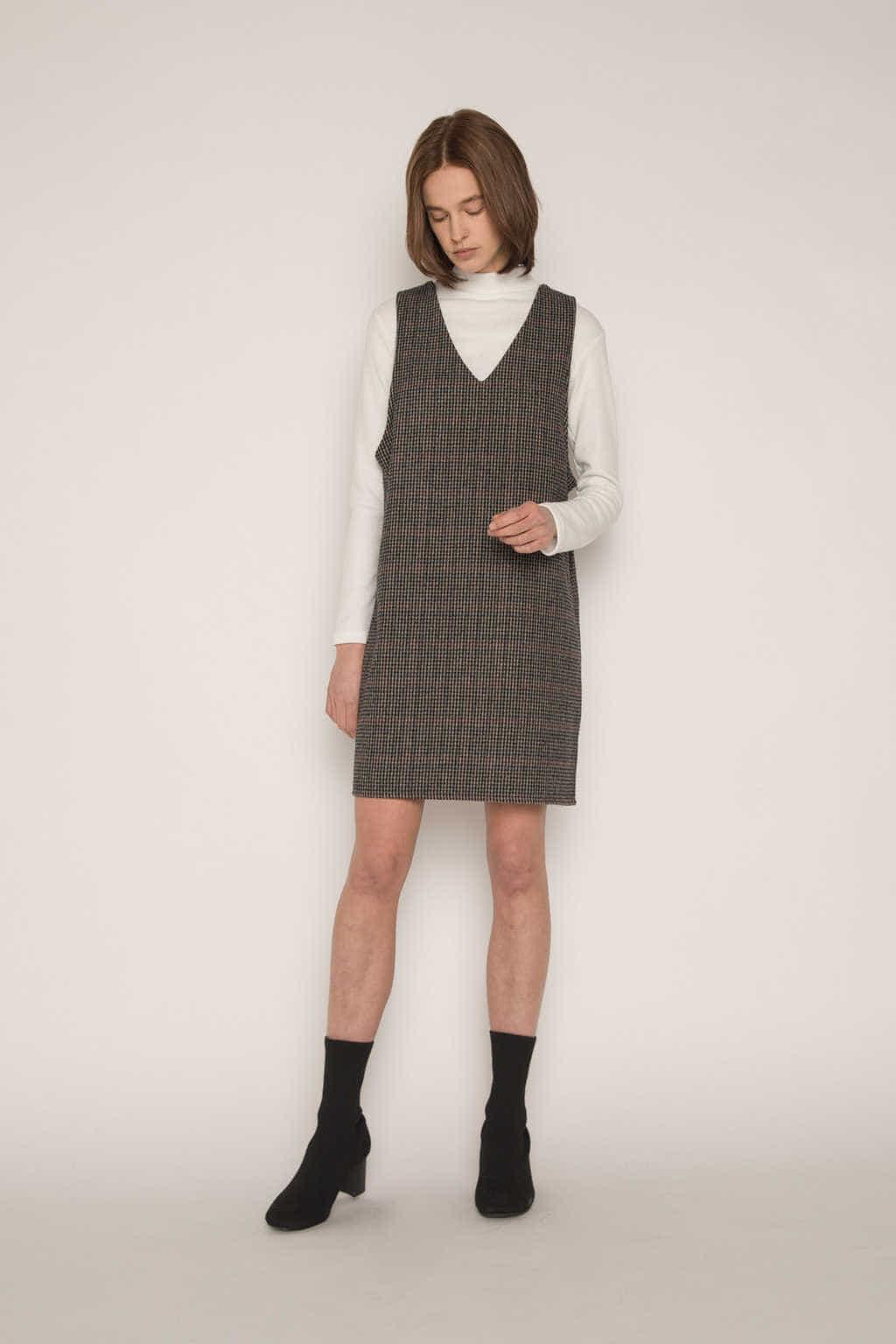 Dress H321 Brown 3