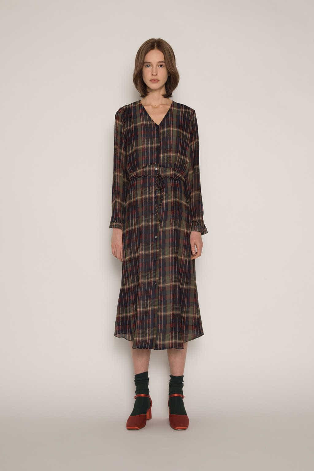 Dress H337 Olive 2