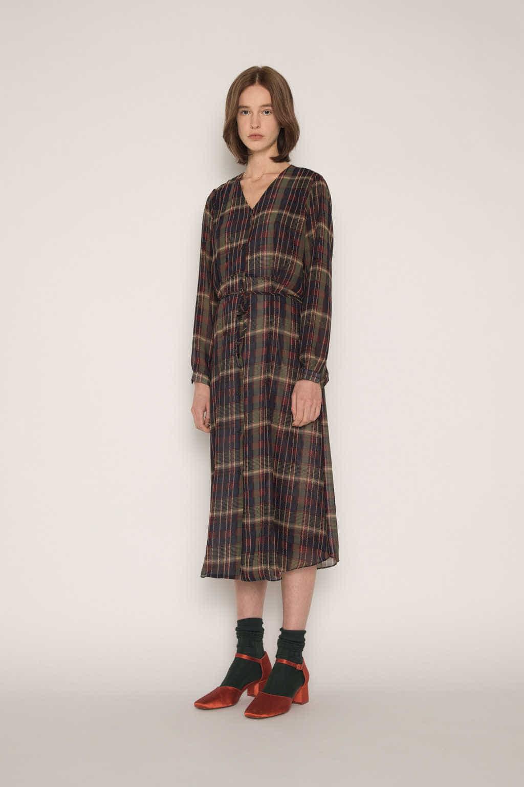 Dress H337 Olive 3