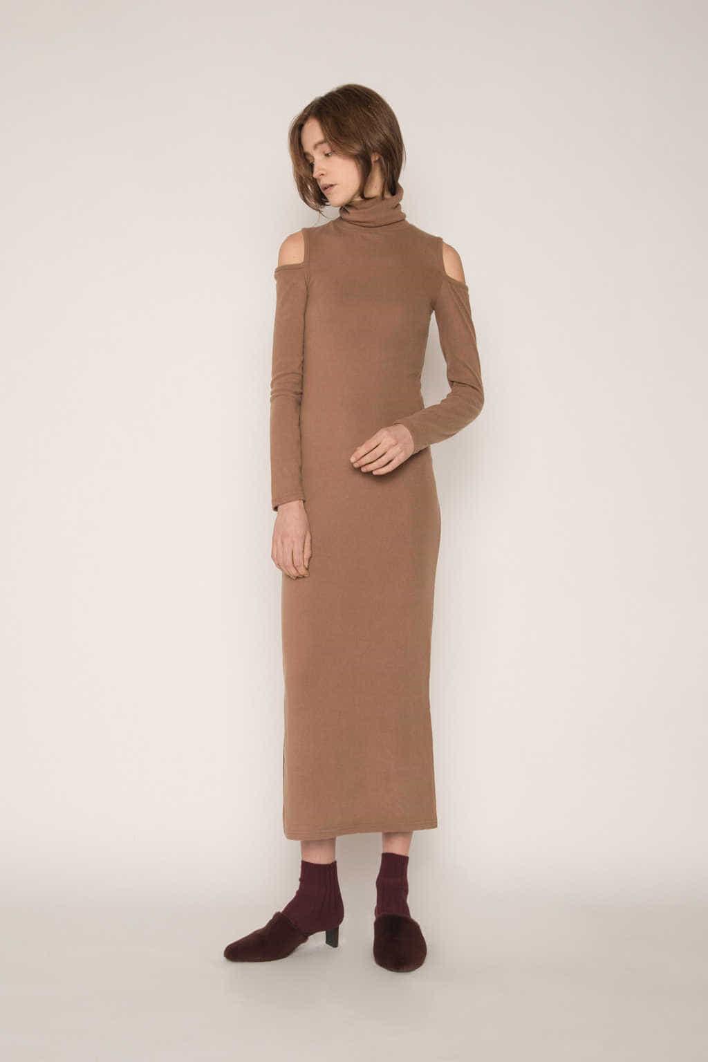 Dress H339 Beige 2