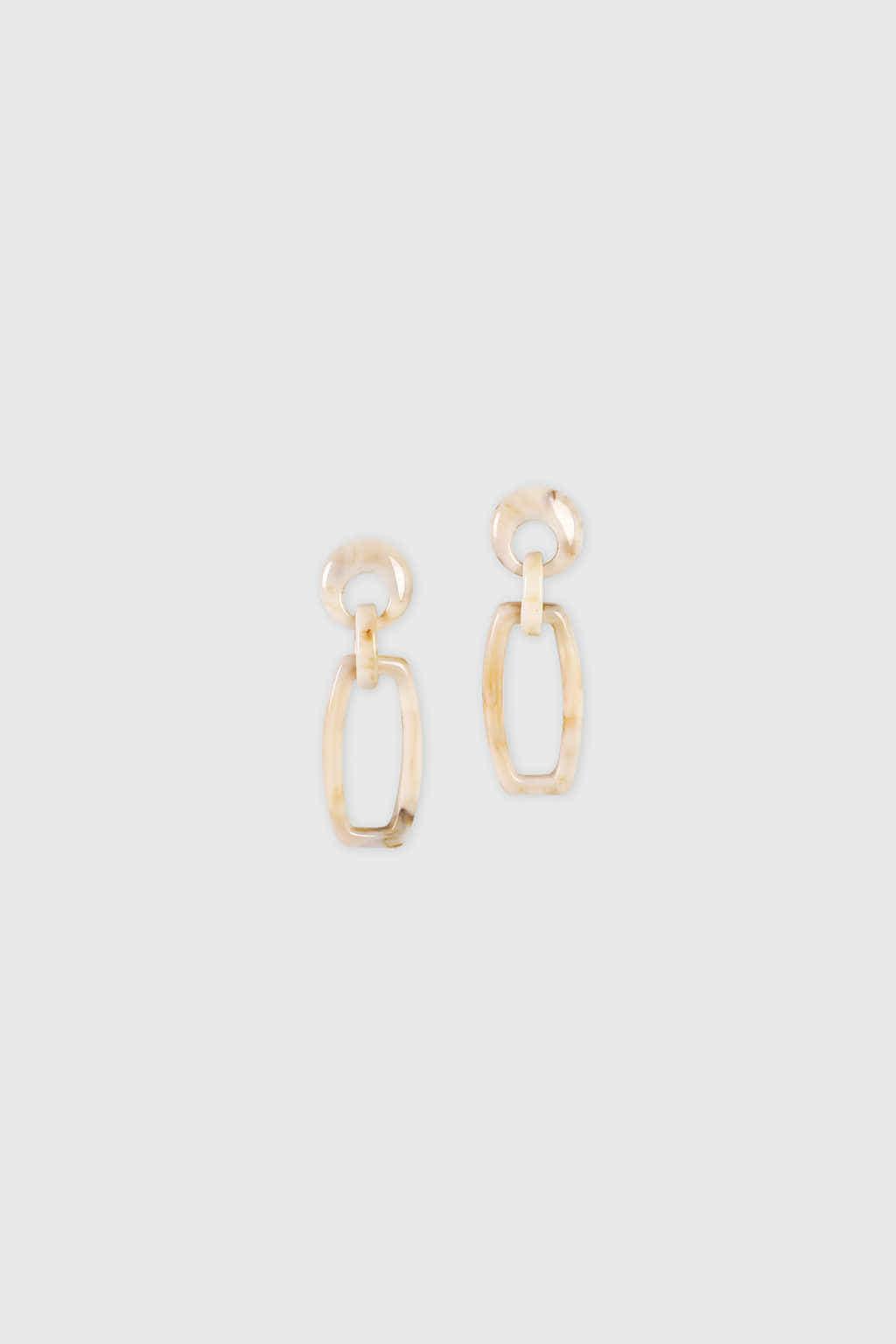 Earring H010 Beige 3