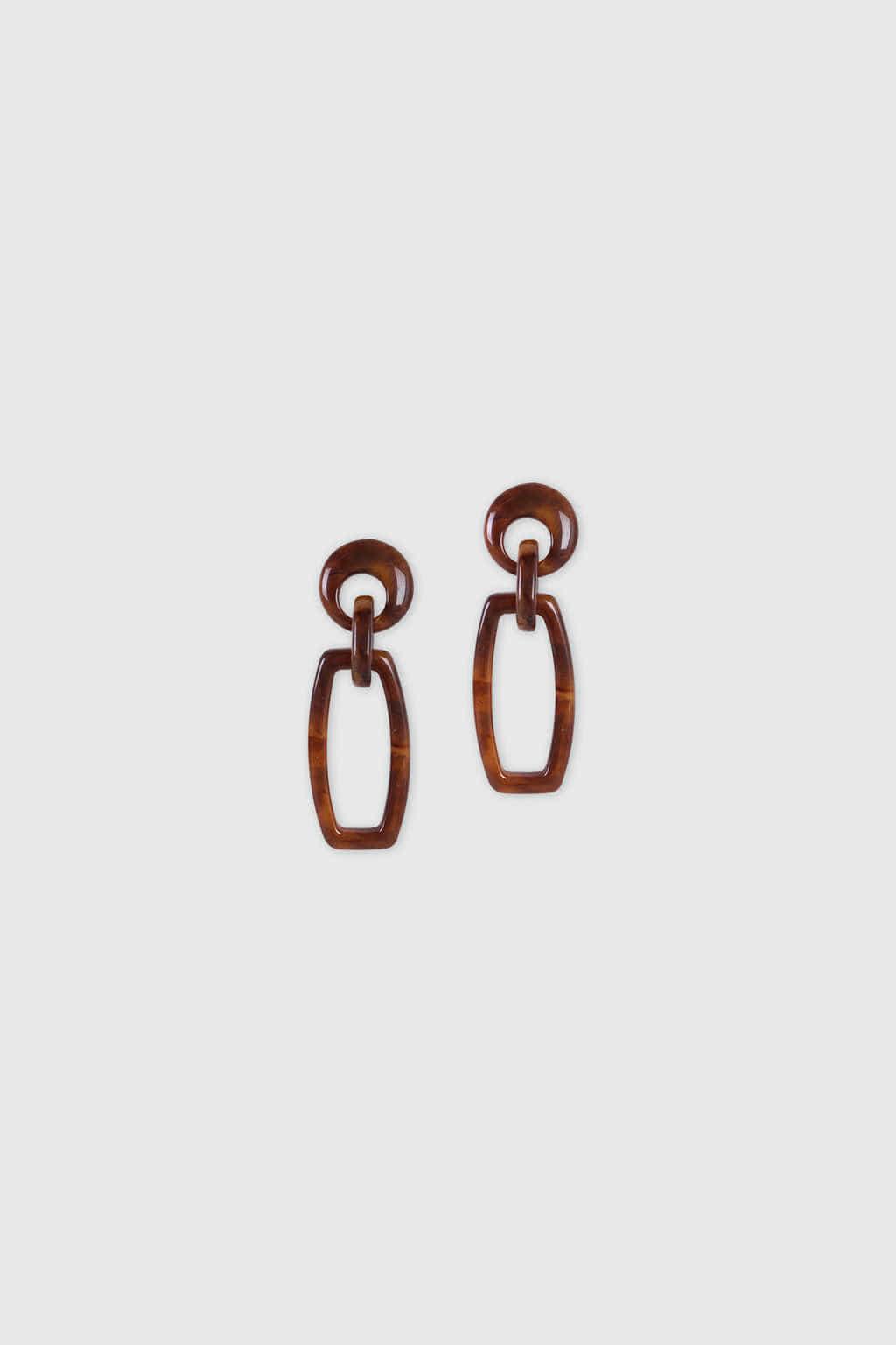 Earring H010 Brown 1