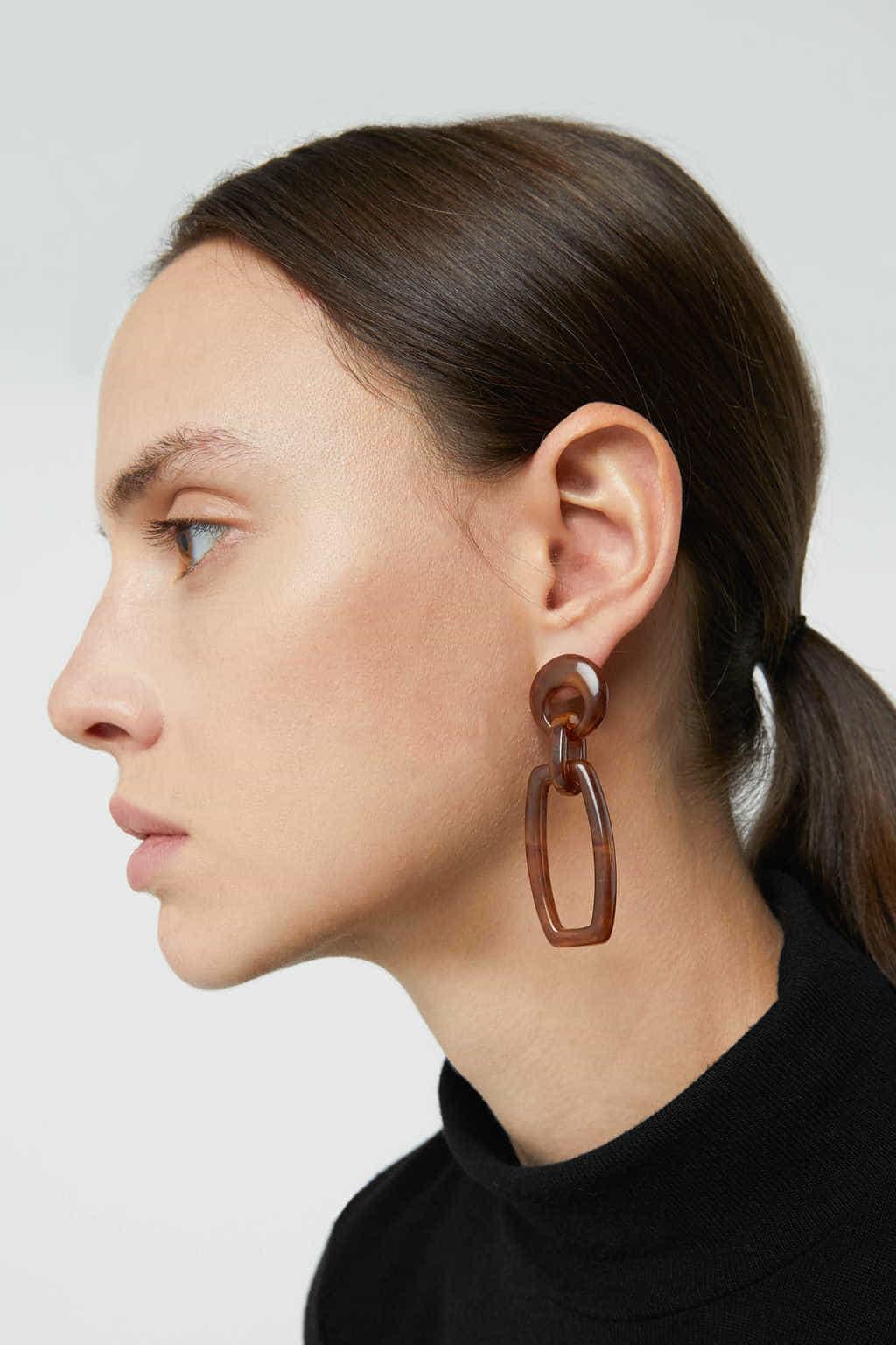 Earring H010 Brown 2